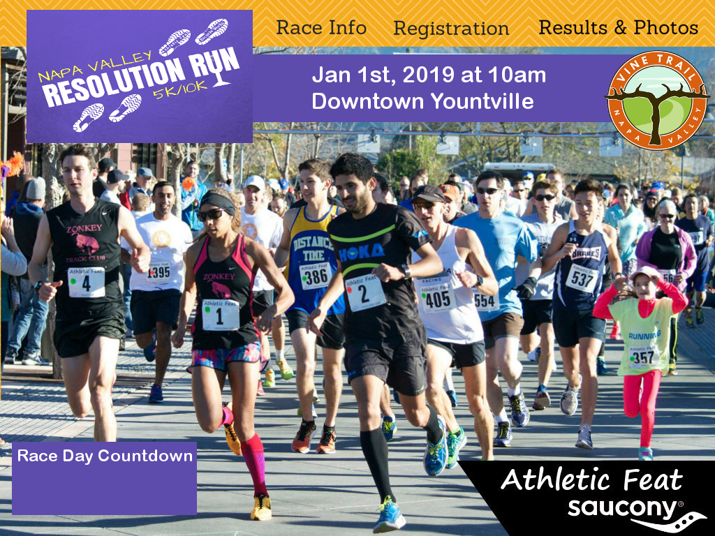 Athletic Feat presents the 2019 Napa Valley Resolution Run on New Year's Day